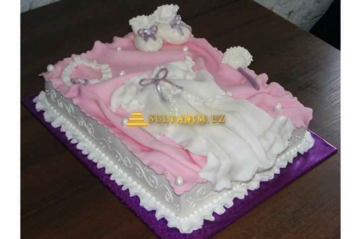 """Эксклюзивный торт  """"Малышке годик/2 """".  Состав по Вашему желанию (медовый, шоколадный, фруктовый и другие варианты) ."""
